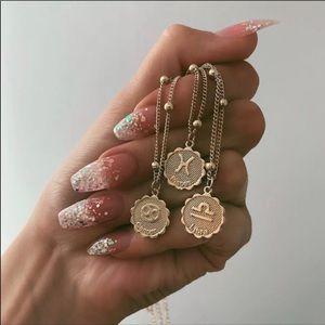 Zodiac Constellation Gold Coin Necklace